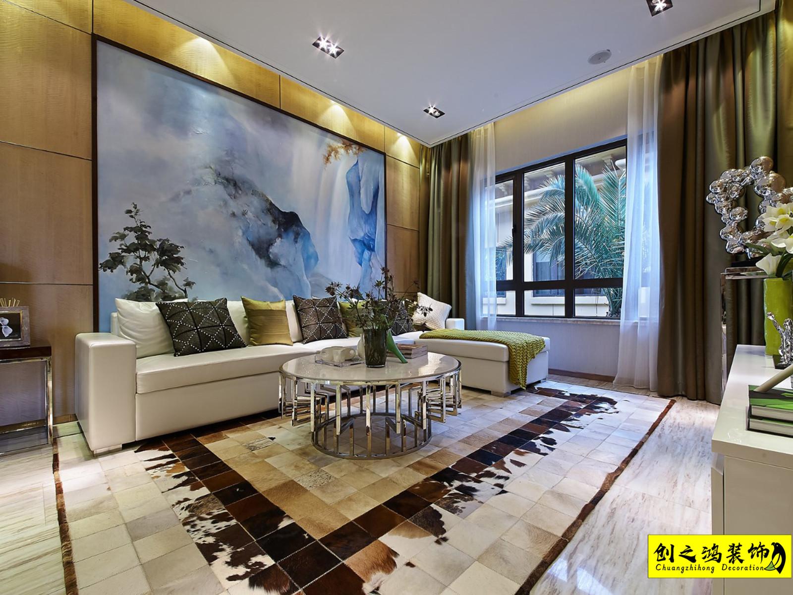 164㎡泰达城河与海四室两厅现代简约风格装修效果图