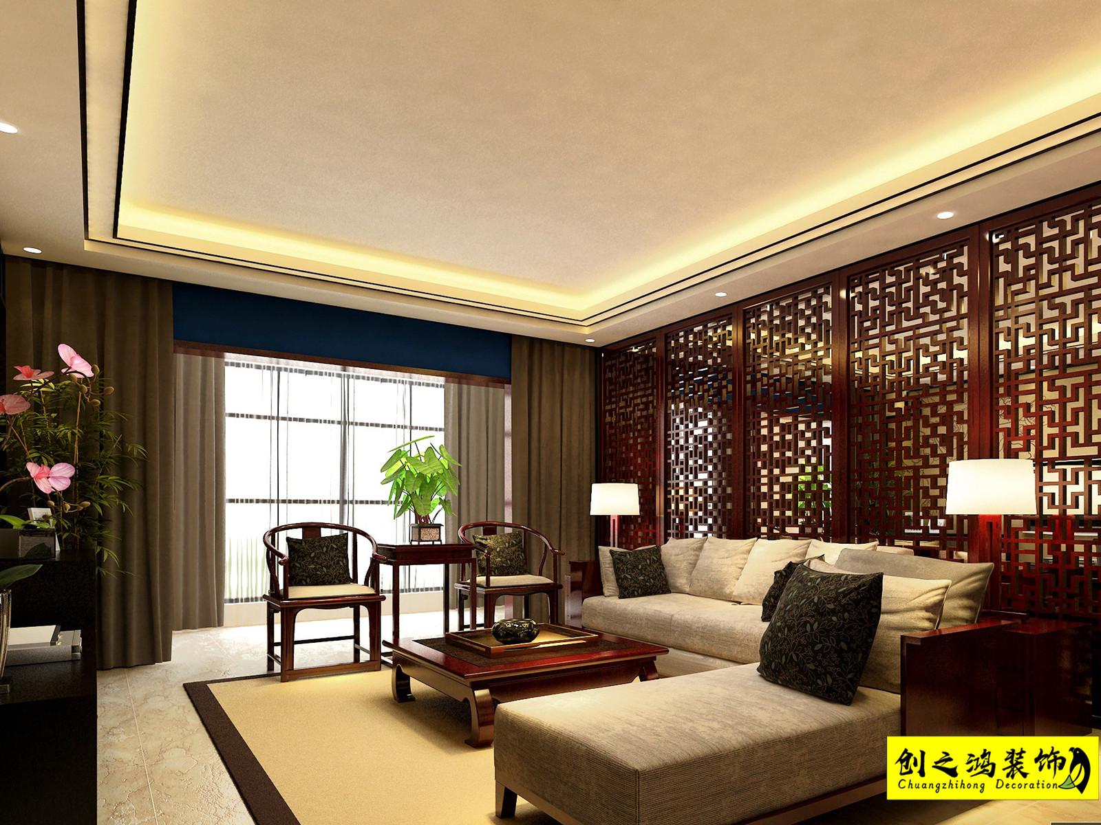 126㎡融侨观澜三室两厅中式风格装修效果图