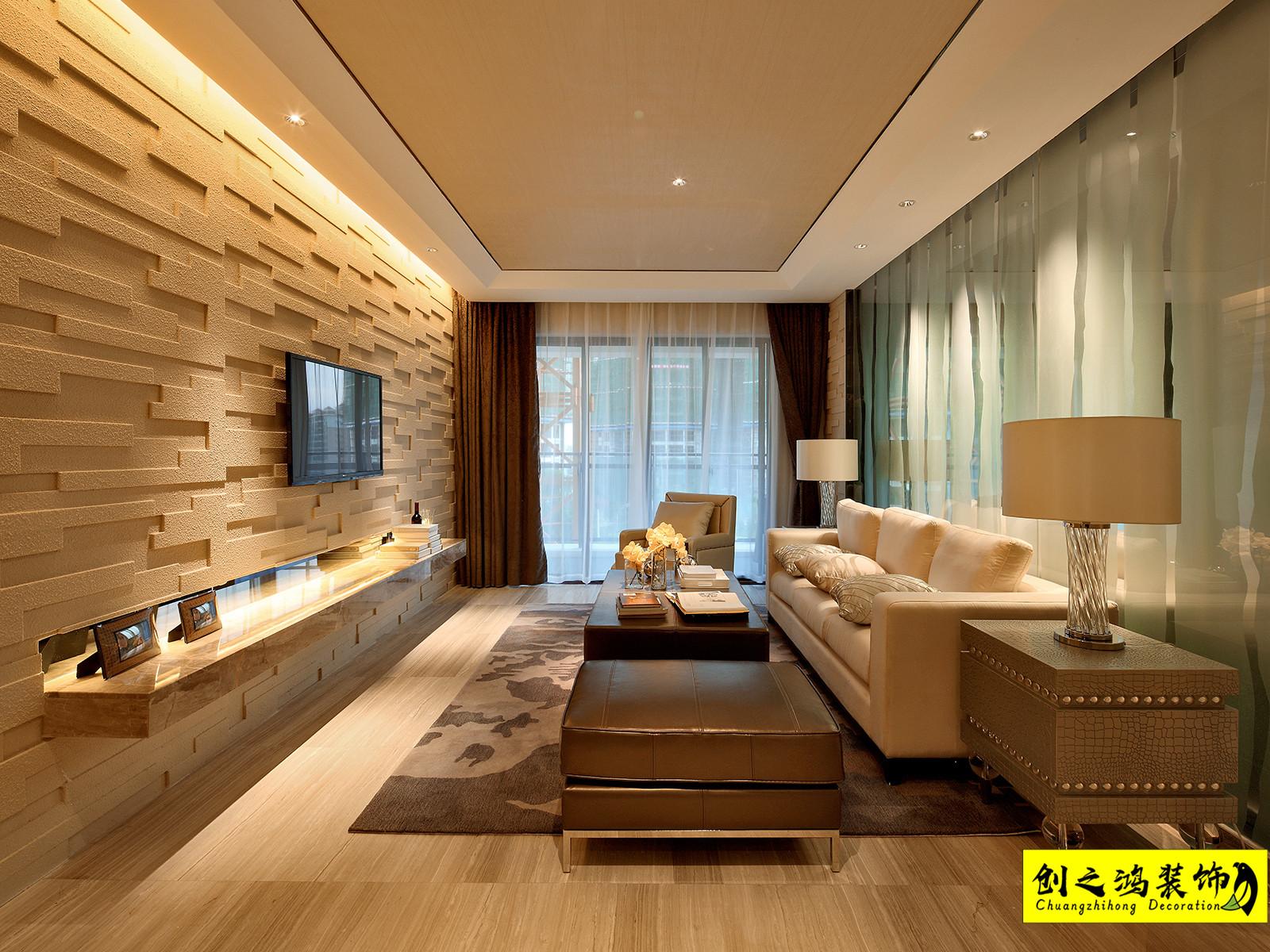 107㎡蓝光雍锦香颂三室现代简约风格装修效果图