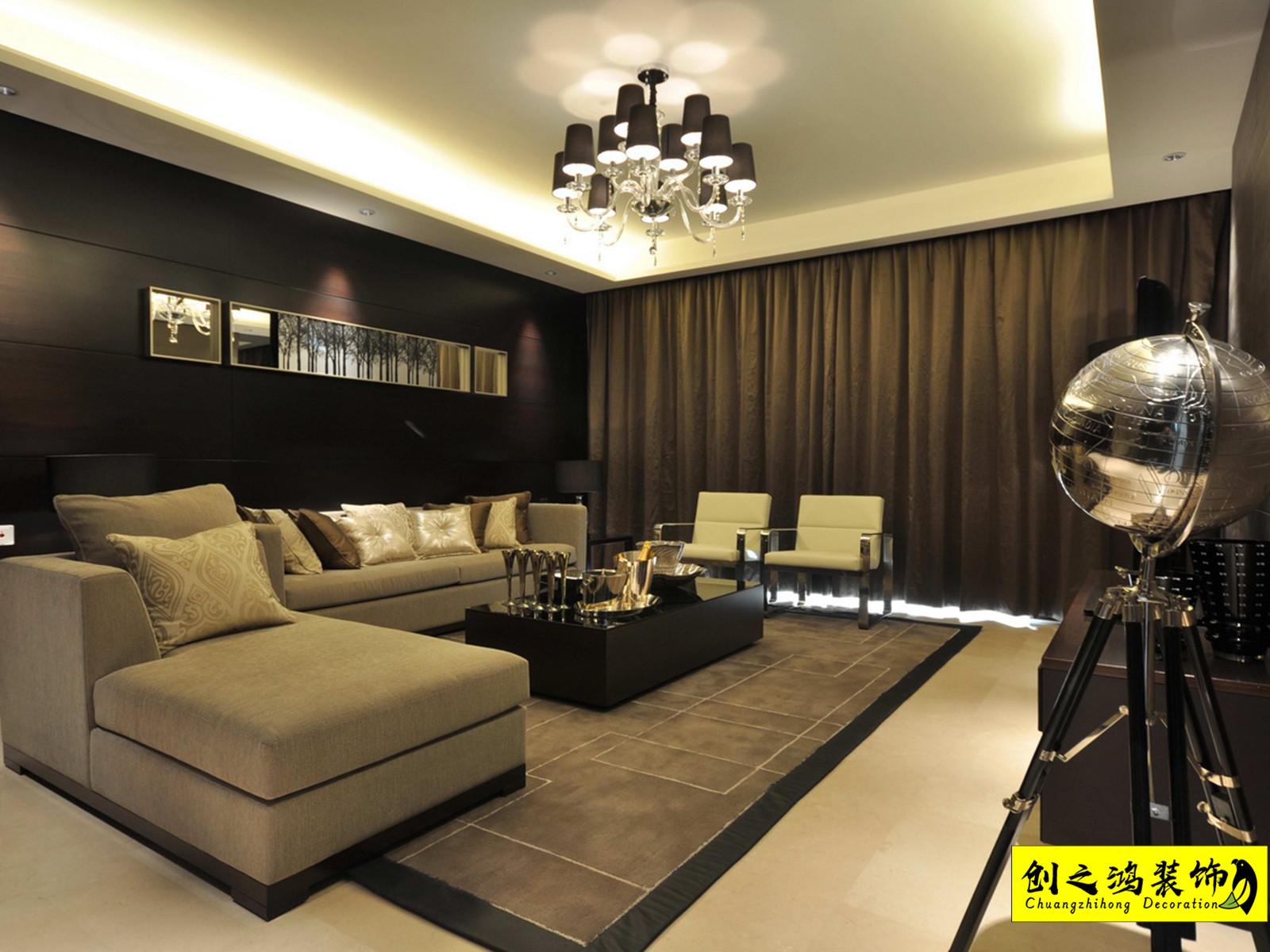 182㎡半湾半岛四室两厅现代简约风格装修效果图