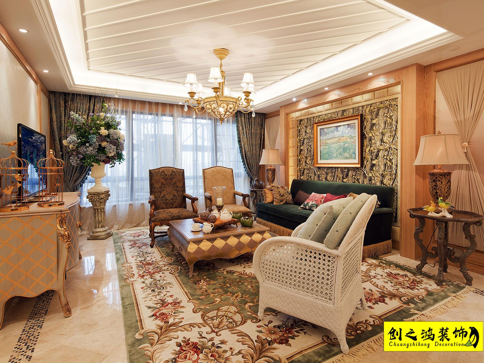 134㎡雲锦世家三室两厅地中海风格装修效果图