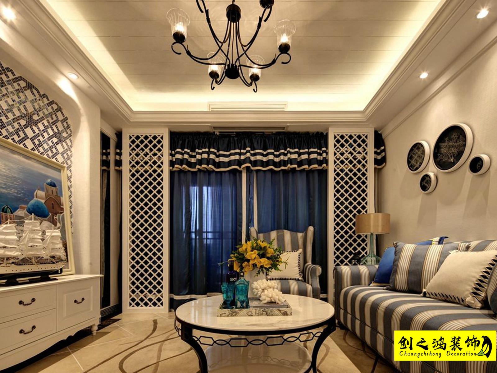 124㎡融创中心三室两厅地中海风格装修效果图