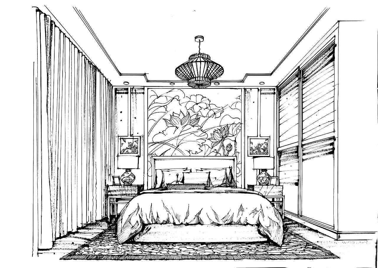 简笔画 手绘 素描 线稿 1280_909