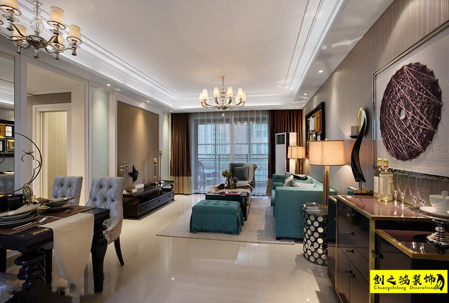 113㎡富力又一城三室两厅新古典装修风格效果图