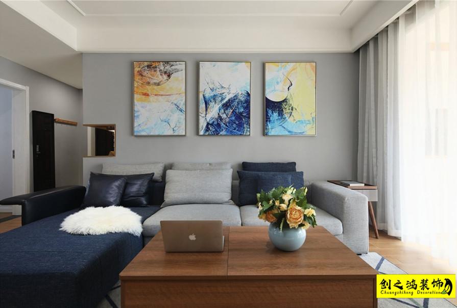 106㎡天房北宁公元三室两厅现代简约风格装修效果图