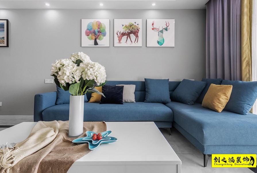 84㎡天房天拖三期两室两厅现代简约风格装修效果图