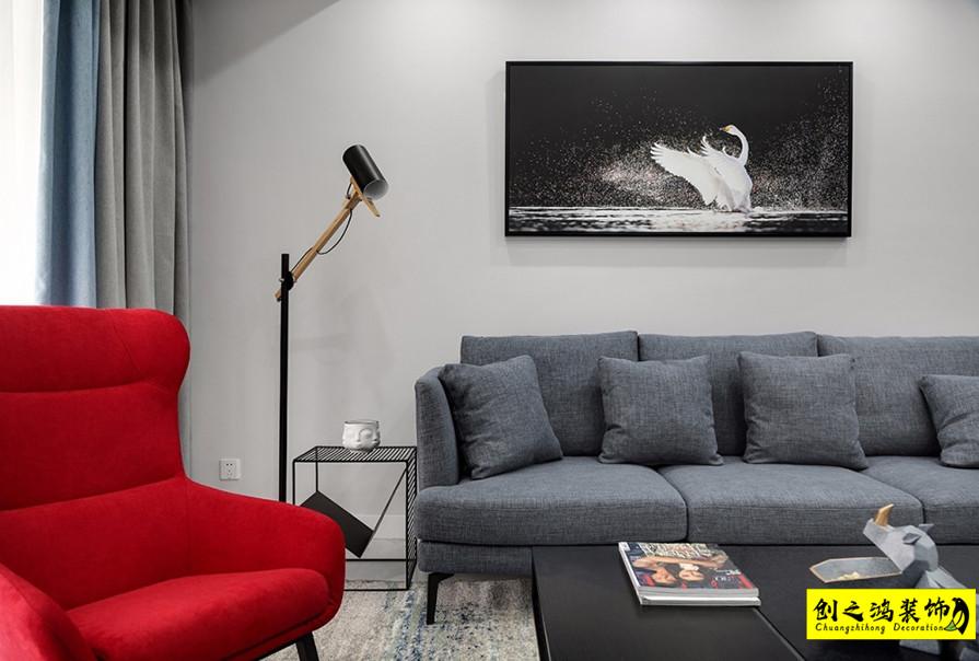 125㎡融创臻园三室两厅现代简约风格装修效果图