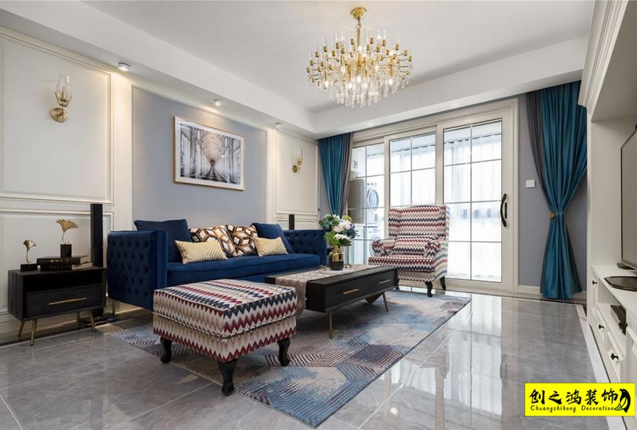 149㎡融创臻园四室两厅美式风格装修效果图