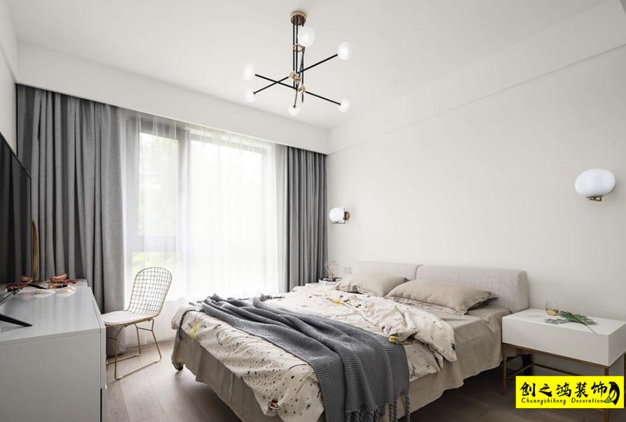 北欧设计,两室两厅效果图