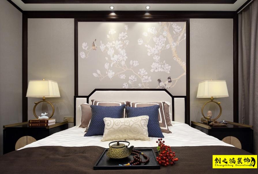 中式设计,三室两厅效果图