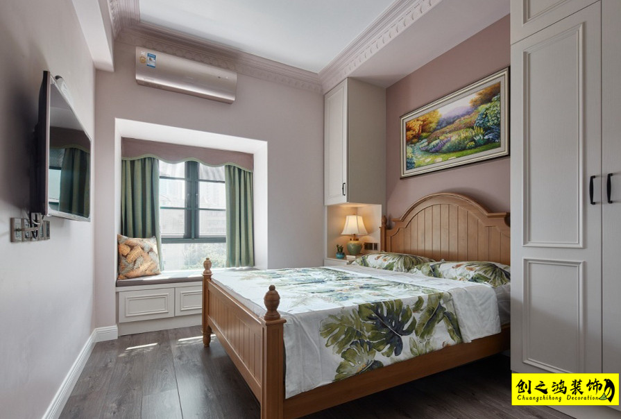 美式风格,三室两厅效果图