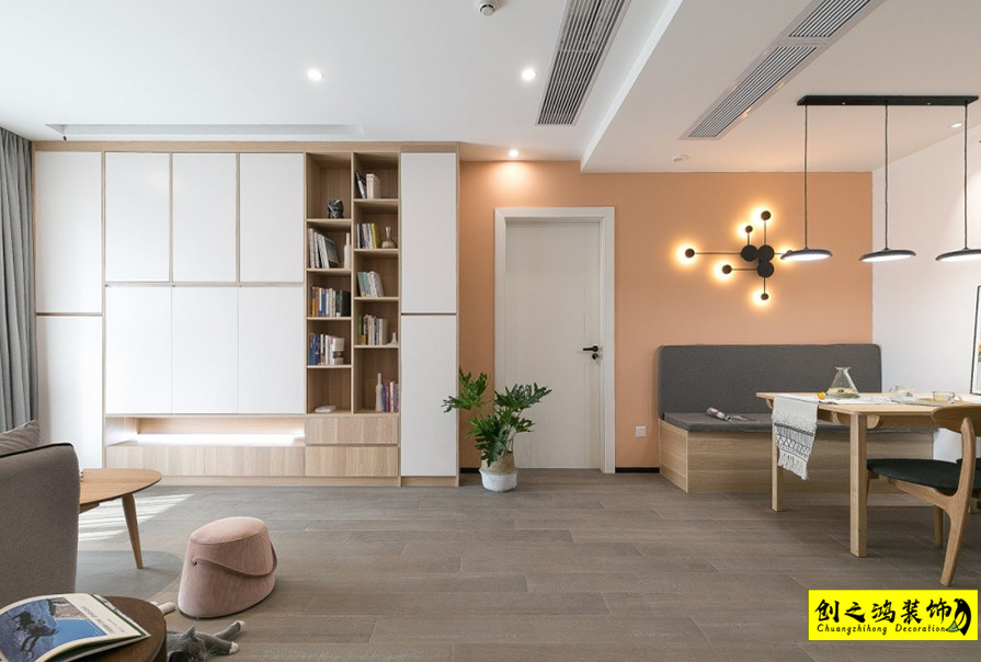 简约设计,三室两厅效果图
