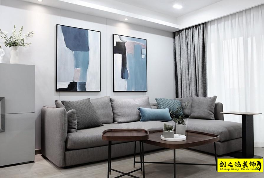 133㎡首创悦山郡三居室现代简约风格装修效果图