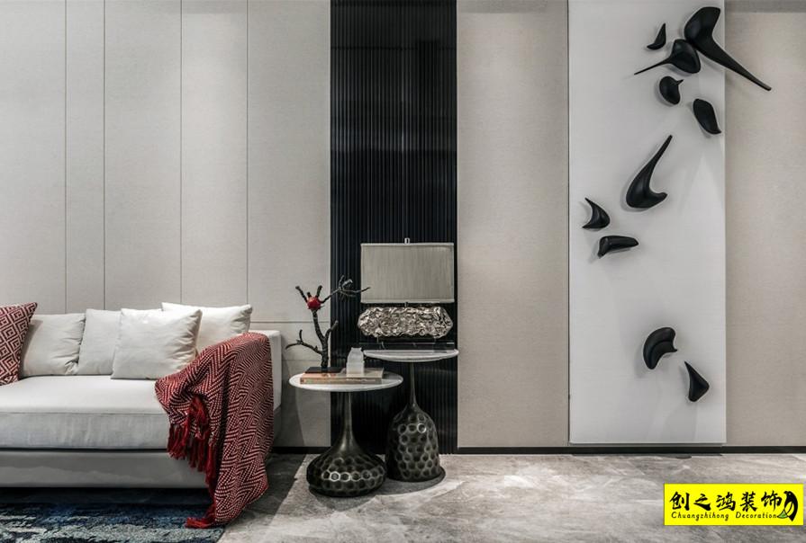 150㎡万科紫台三室两厅混搭风格装修效果图