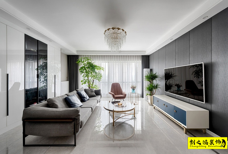 127㎡格调松间三室两厅现代简约风格装修效果图