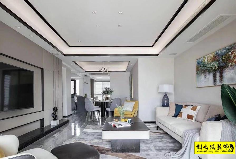 109㎡格调松间三室两厅现代简约风格装修效果图