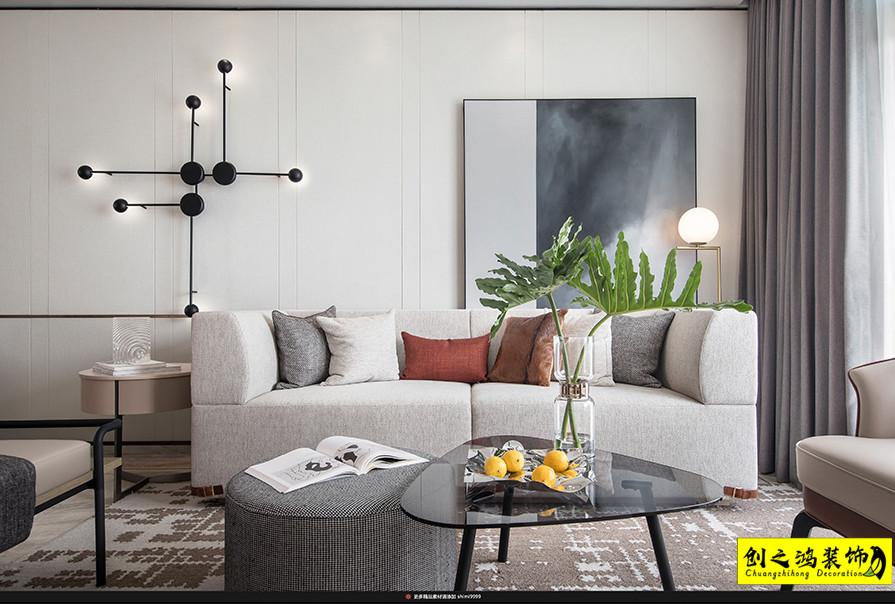 143㎡联发静湖壹号三室两厅现代简约风格装修效果图
