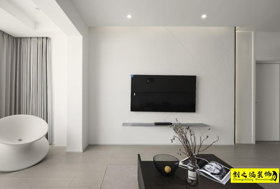107㎡泰达城河与海两室两厅现代简约风格装修效果图
