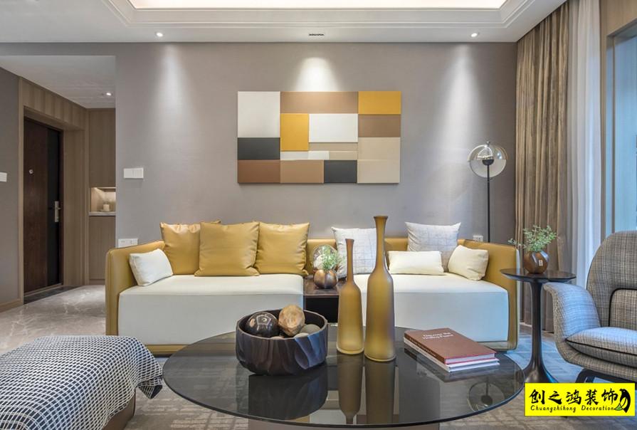 天津130㎡天房北宁公元三室两厅现代简约风格装修效果图