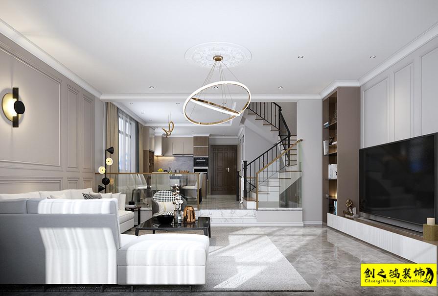 别墅设计,天津装修公司,创之鸿实景效果图
