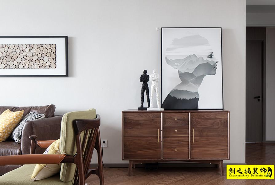 天津115㎡天房天泰三室两厅北欧风格装修效果图