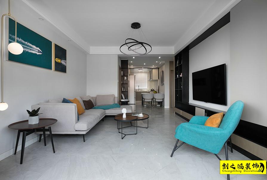 天津95㎡天房天泰两室两厅现代简约风格装修效果图