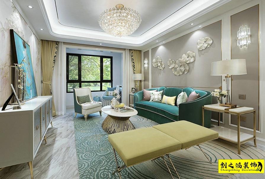天津142㎡天房天泰四室两厅欧式风格装修效果图
