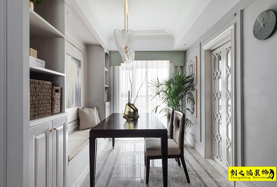 天津167㎡融创融园四室两厅美式风格装修效果图