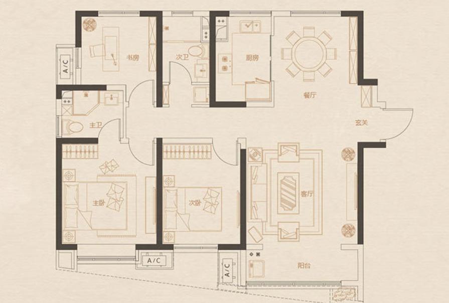 格调松间样板间,天津装修公司,创之鸿原创案例,天津大包装修,天津半包装修