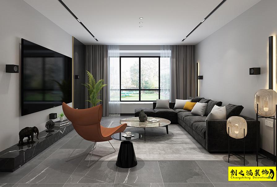 天津160㎡黛湖花园三室两厅现代简约风格装修效果图