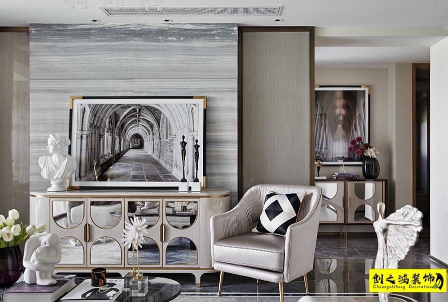 天津133㎡格调松间三室两厅现代简约风格装修效果图