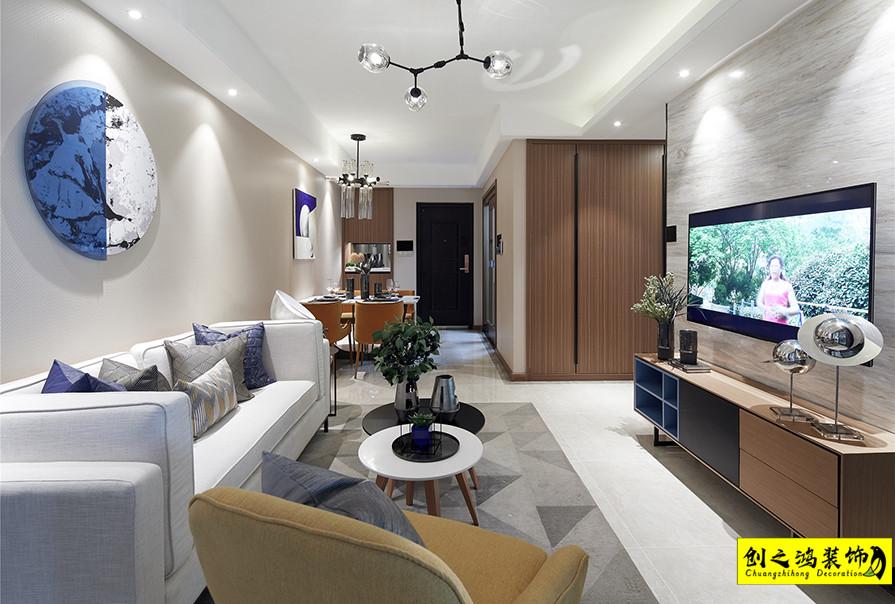 天津109㎡格调松间三室两厅现代简约风格装修效果图