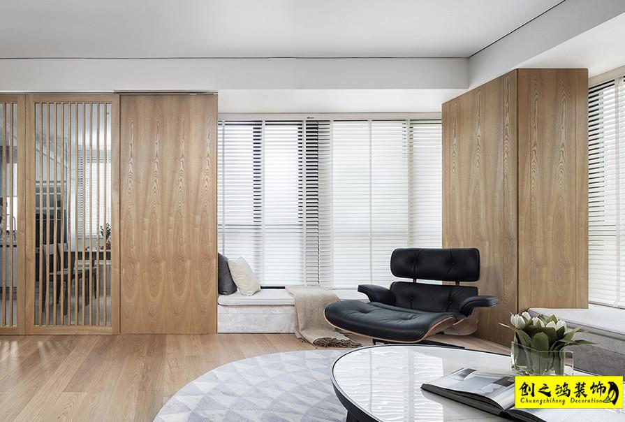 95㎡柏景湾两室一厅日式风格装修效果图