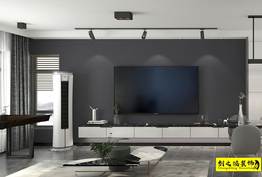 90㎡首创城明景苑两室一厅现代简约风格装修效果图