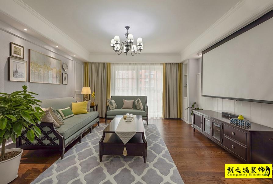 195㎡四室两厅融创御园美式风格装修效果图