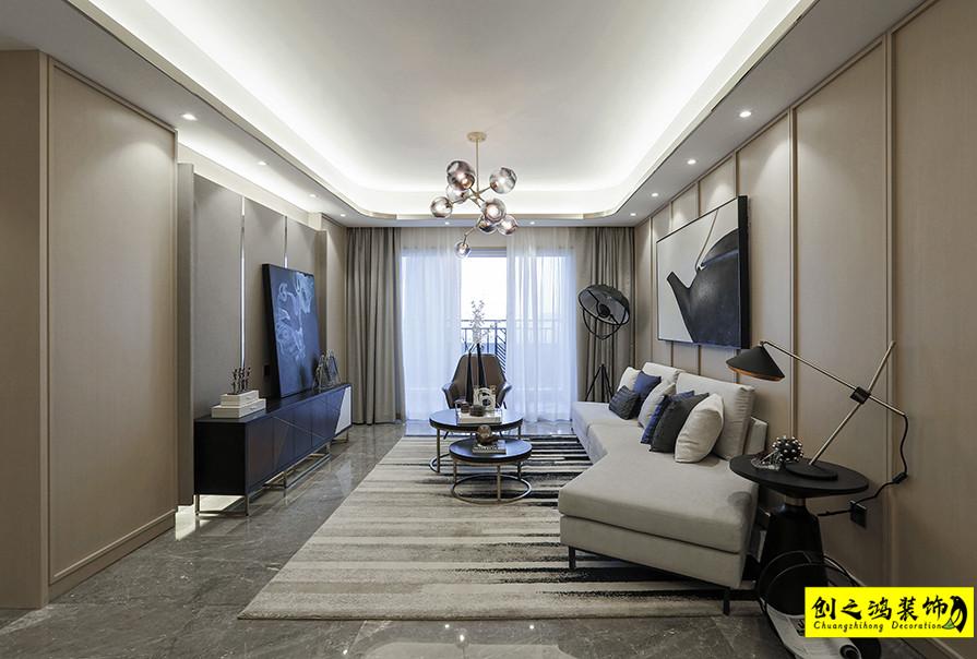 97㎡未来城三室两厅现代简约风格装修效果图