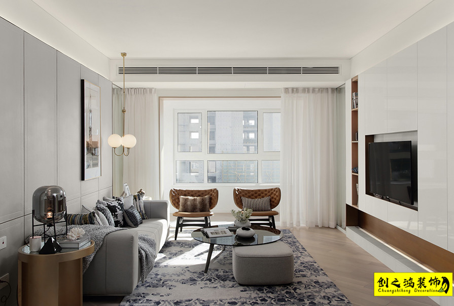 136㎡格调平园三室两厅现代简约风格